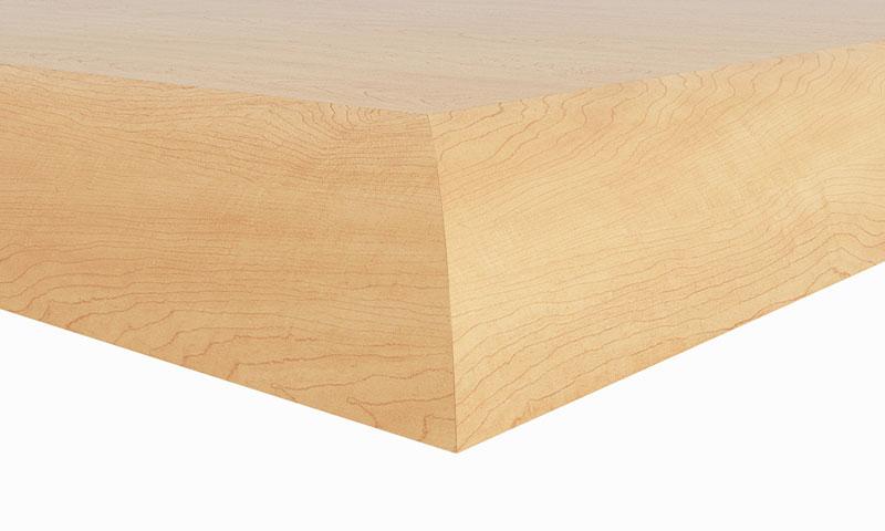 "C2: 1-1/8"" thick top; 1-1/8"" waterfall hardwood edge"