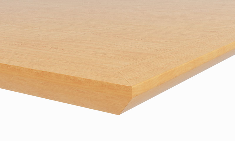 "C4: 1-1/8"" thick top; 1-1/8"" reverse bevel hardwood edge"