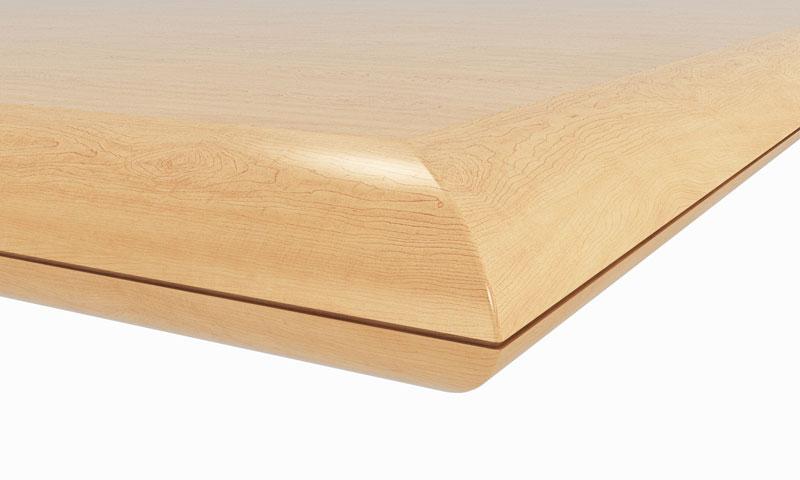 "G1: 2-3/8"" thick top; 2"" bullnose hardwood edge"