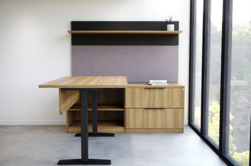 Convergence Casegoods with Height Adjustable Desk